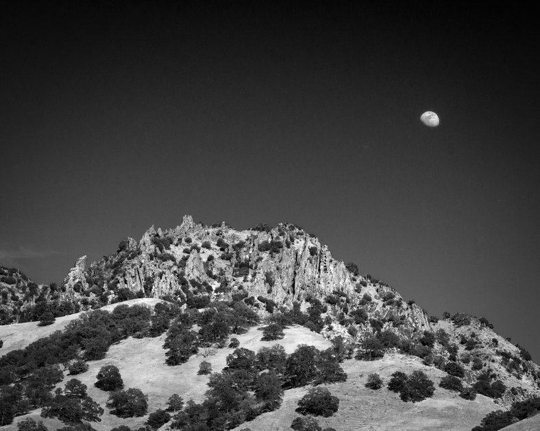 Moonrise over Destiny Peak
